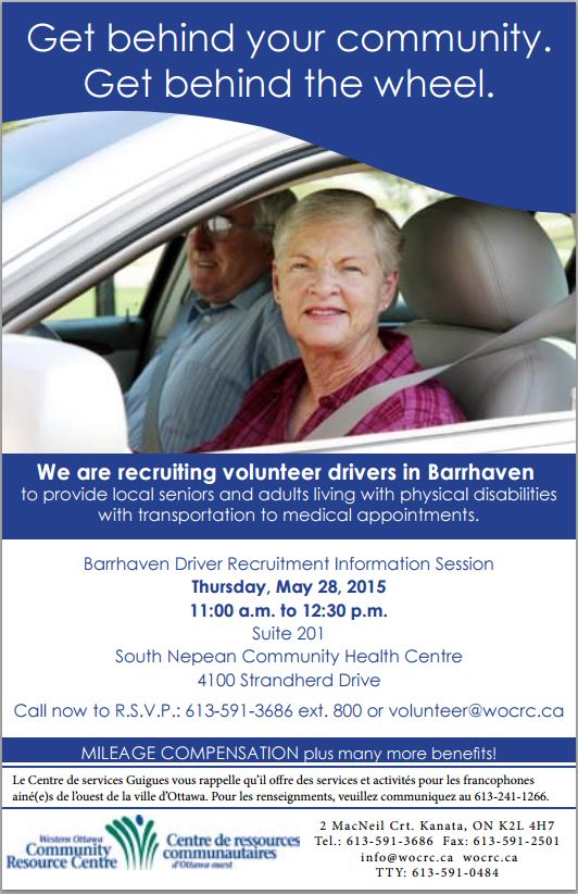 Barrhaven volunteers for seniors