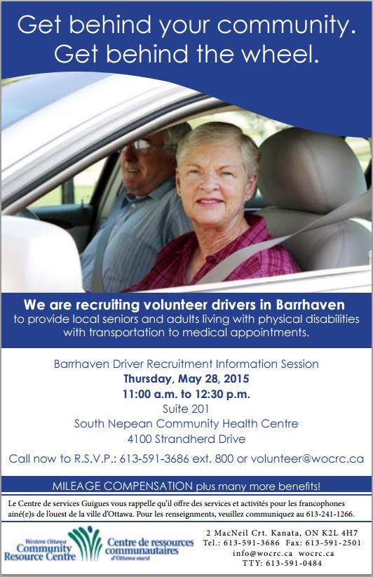 Barrhaven volunteers for seniors