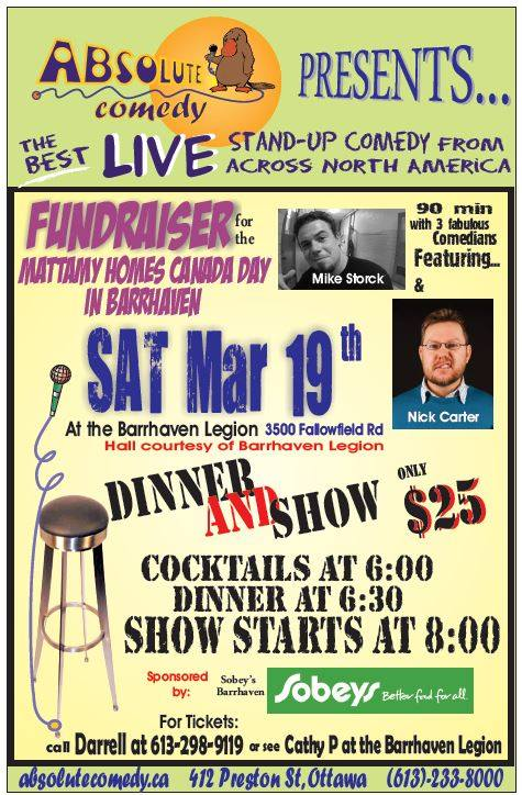 Barrhaven Legion Stand Up Comedy