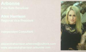 Arbonne Representative Alex Harrison