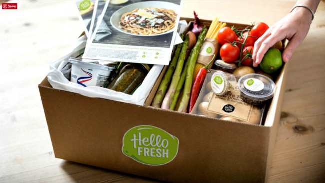 The HelloFresh Box we received was similar to the one pictured above