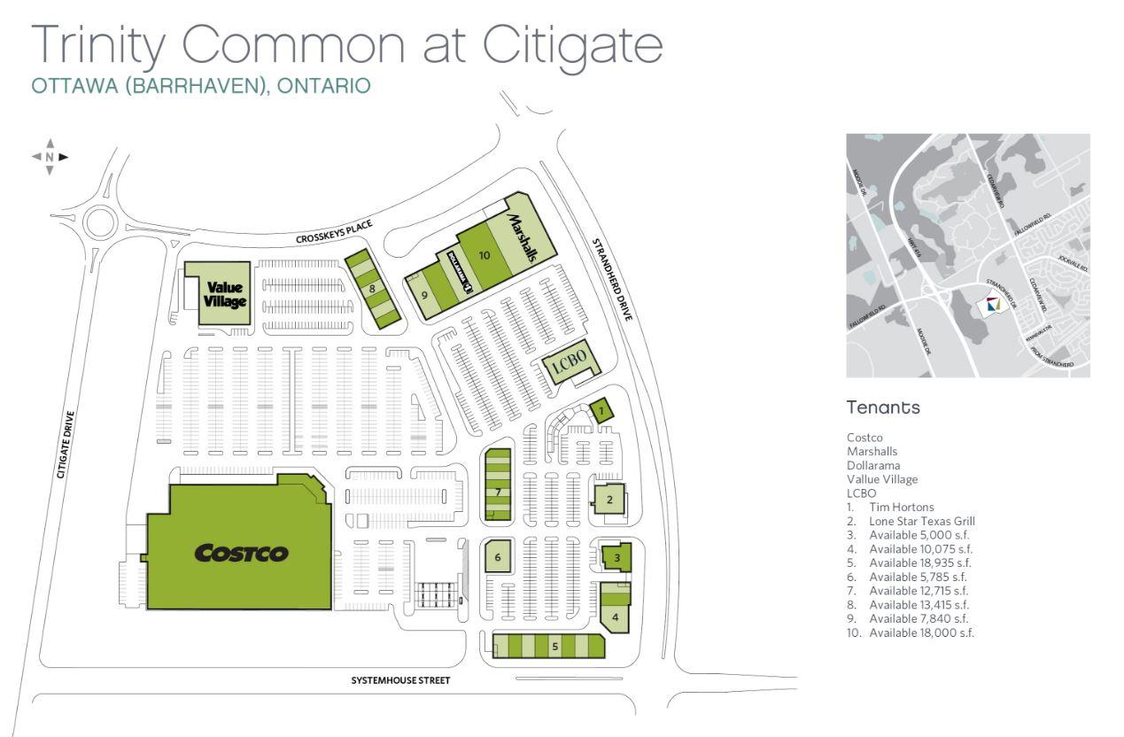 Barrhaven Costco Site Map Trinity Citigate