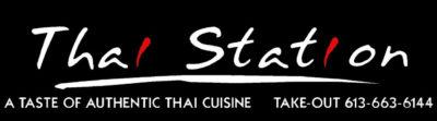 Thai Station Logo Black