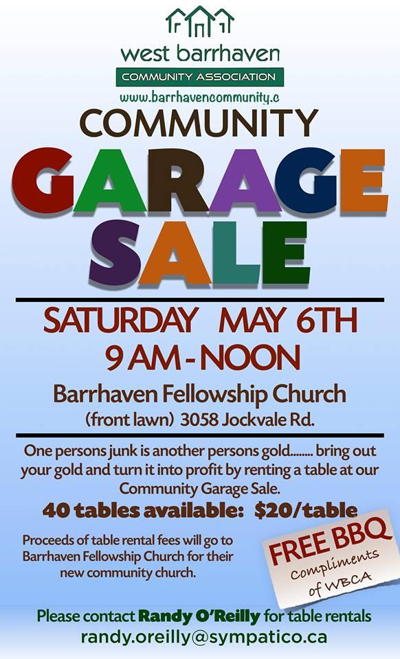 Barrhaven Community Garage Sale