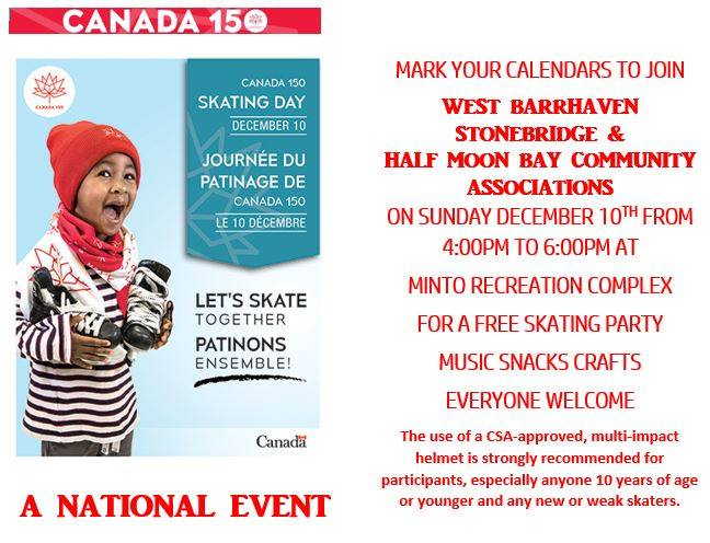 Canada 150 Skate Day in Barrhaven