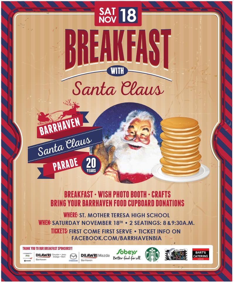Barrhaven Breakfast with Santa