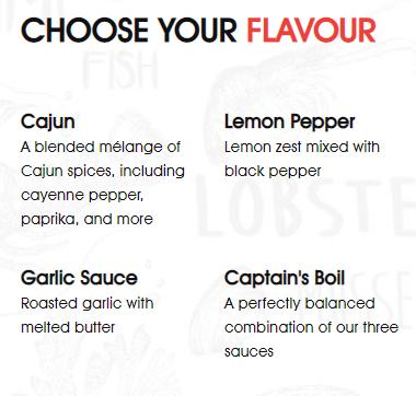 Captains Boil Flavour Selection
