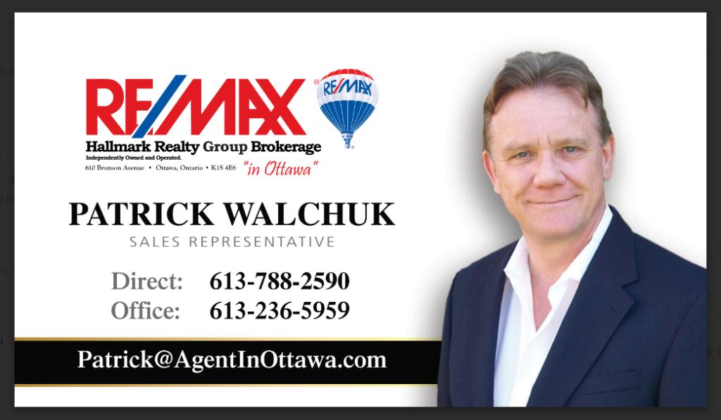 Barrhaven Real Estate Pat Walchuk Agent in Ottawa