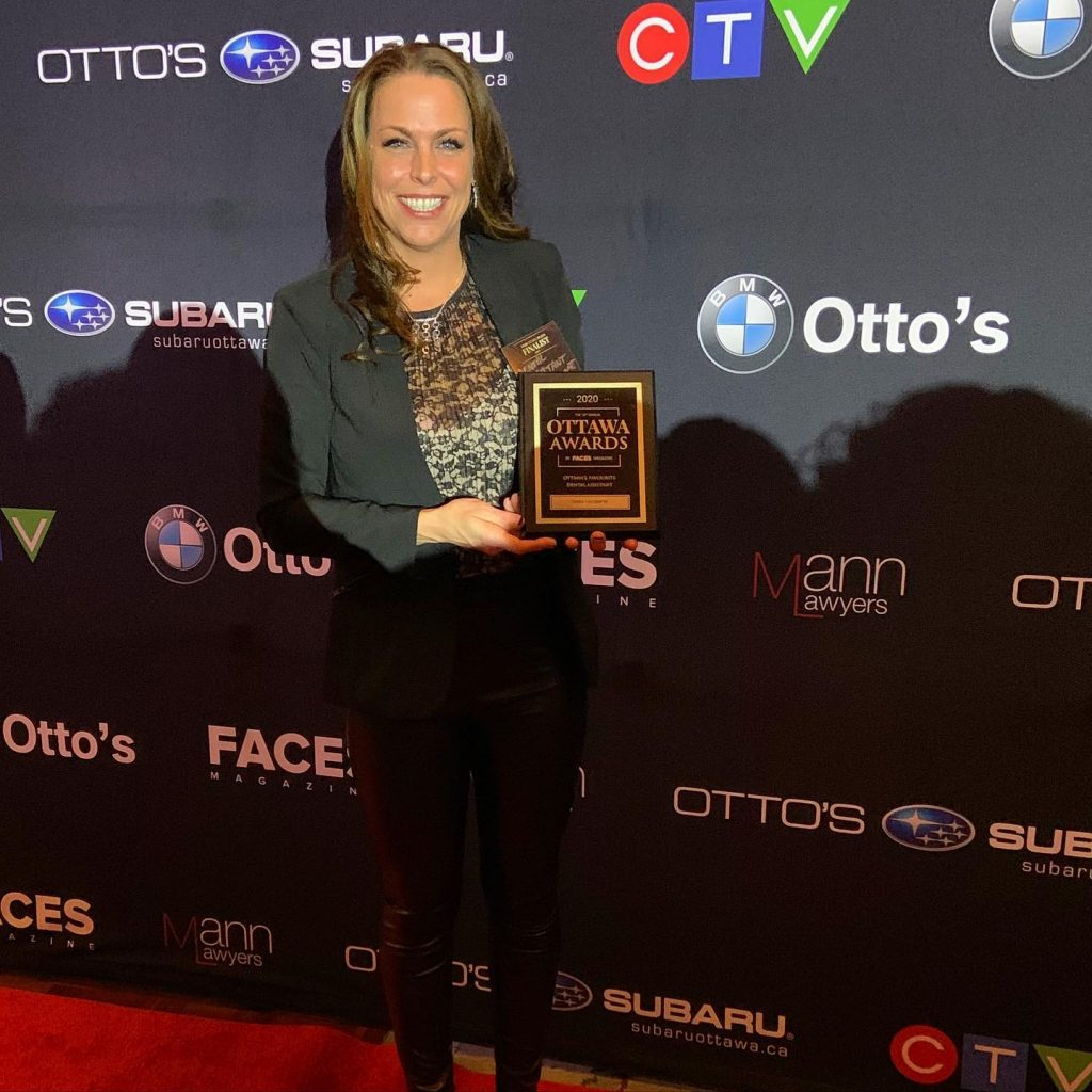 Sindy Lecompte from Braces Haven in Barrhaven Wins Favourite Dental Assistant in Ottawa - Faces Magazine Awards